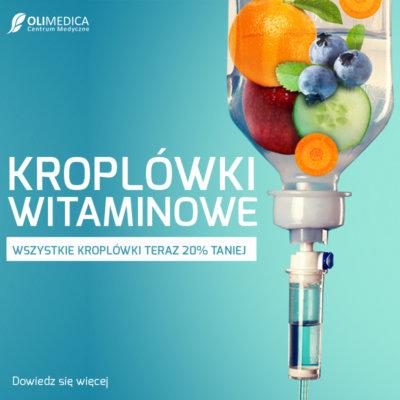 Kroplówki witaminowe 20% taniej